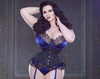 Floral Coutil Cincher Waist training Corset