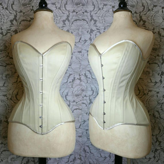 BESPOKE Sheer Nude Silk Overbust Corset
