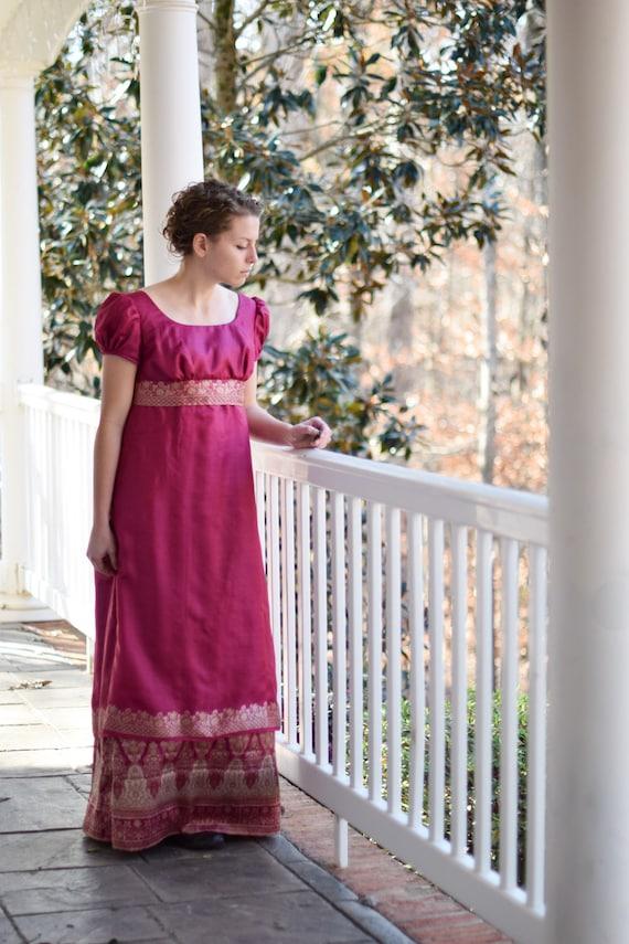Regency Ball Gown Jane Austen Dress Pride and Prejudice | Etsy