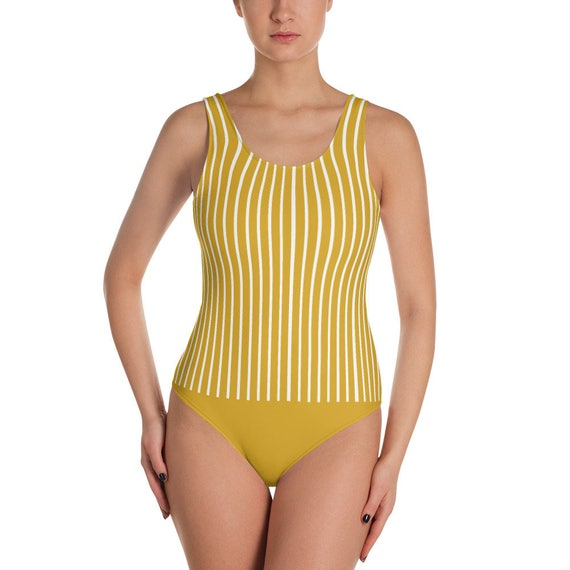 6579cd74ad Swimsuit for her one-piece swimsuit for her vertical stripe
