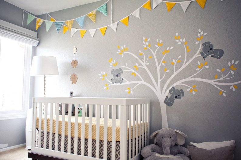 Baby Fabric Pattern Tree Removable Wall Stickers Nursery Decal Kid Baby Room Decor Quality And Quantity Assured