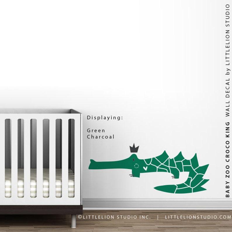 Baby Zoo Croco King Wall Decal Royal Safari Wall Stickers by LittleLion Studio