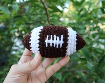 Football Crochet Toy, Amigurumi ball, Sports theme, Baby Rattle, Pretend Play, Soft Toys, Touch Down, Outdoor Play, Newborn Sport Photo prop