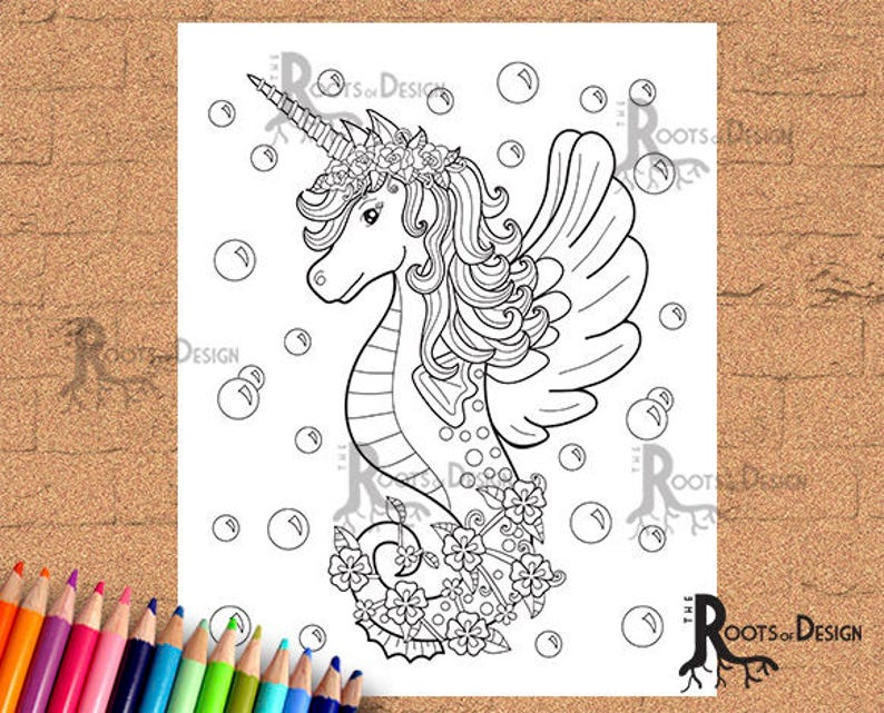 INSTANT DOWNLOAD Coloring Page Unicorn Ice Cream Print | Etsy