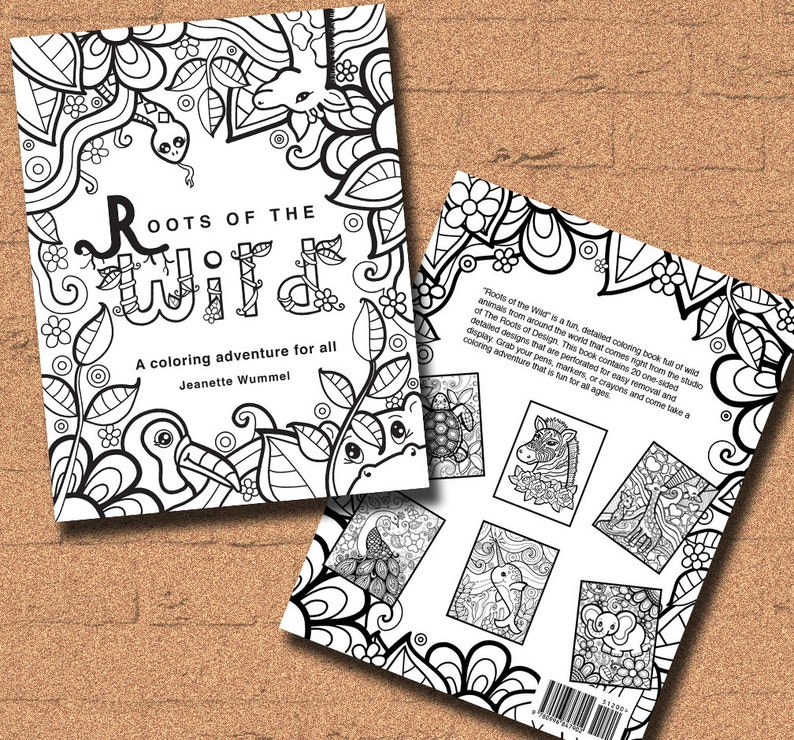 INSTANT DOWNLOAD Coloring Book Roots of the Wild Coloring | Etsy