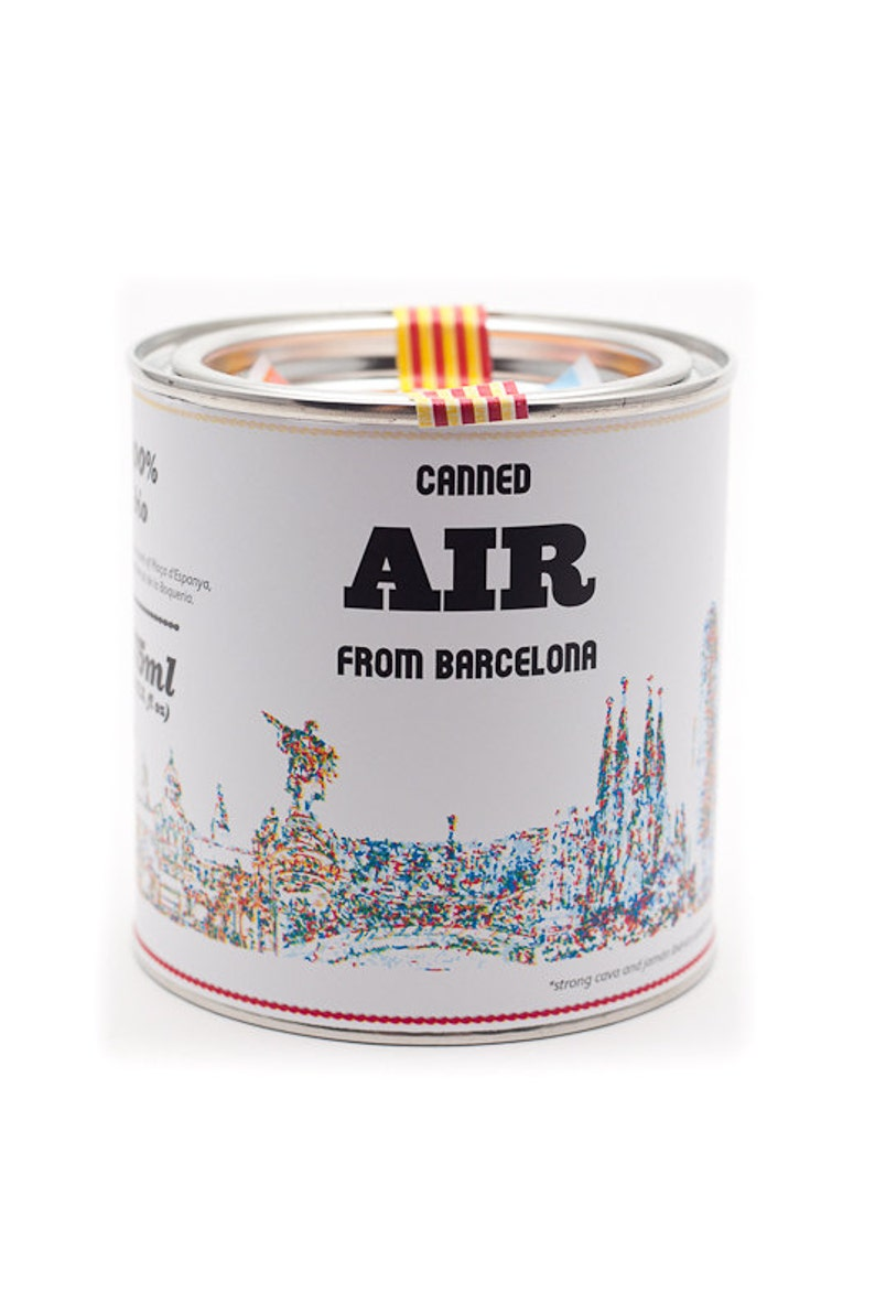 Original Canned Air From Barcelona gag souvenir gift image 0