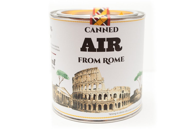 Original Canned Air From Rome Italy gag souvenir gift image 0