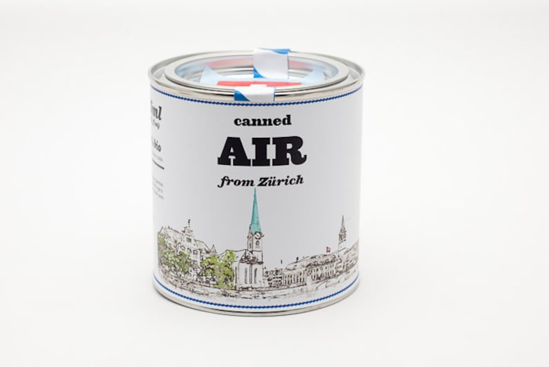Original Canned Air From Zurich Switzerland gag souvenir image 0