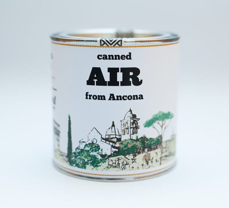 Original Canned Air From Ancona Italy image 0