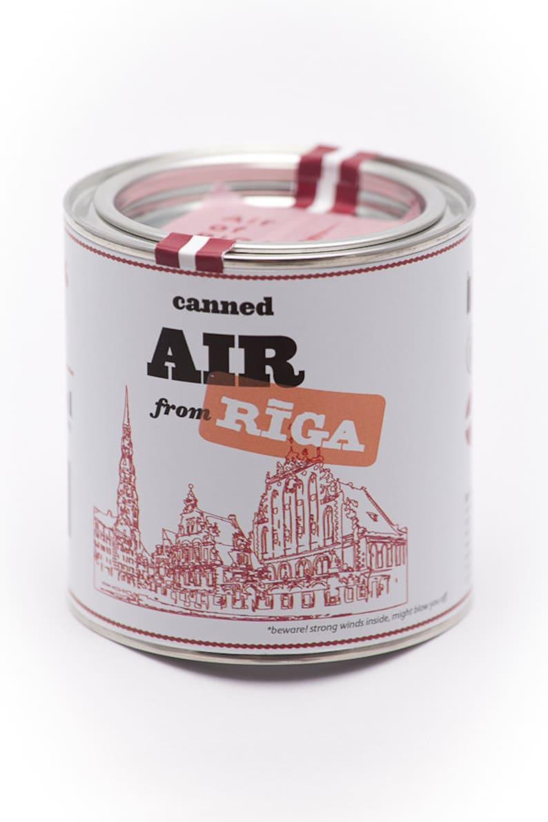 Original Canned Air From Riga gag souvenir gift memorabilia image 0
