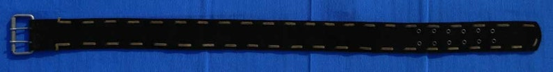Black Suede Handmade Belt