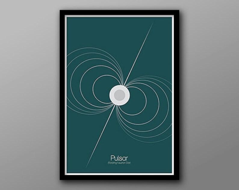 Pulsar  Astronomy and Space Inspired Cosmic Phenomenon Series  Minimalist Stellar Icon Poster