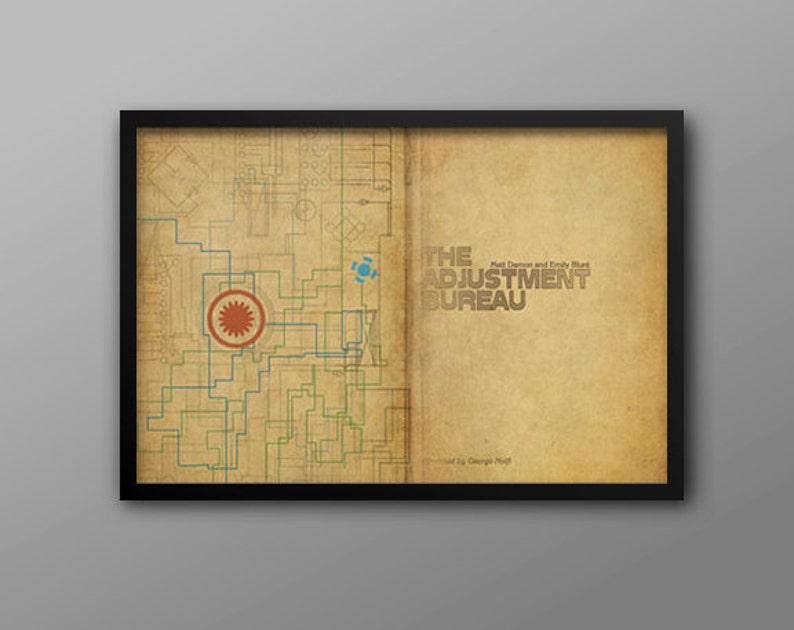 Bureau Retro Design.The Adjustment Bureau Retro Scifi Movie Poster A Doorway Etsy