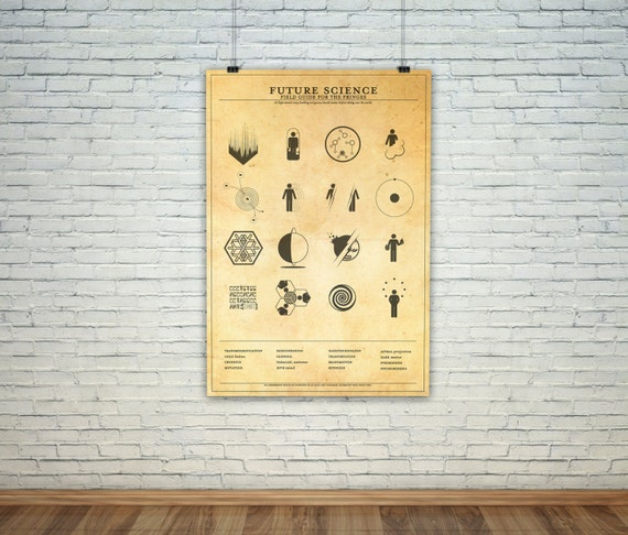 fringe science icon map vintage science experiment warning etsy