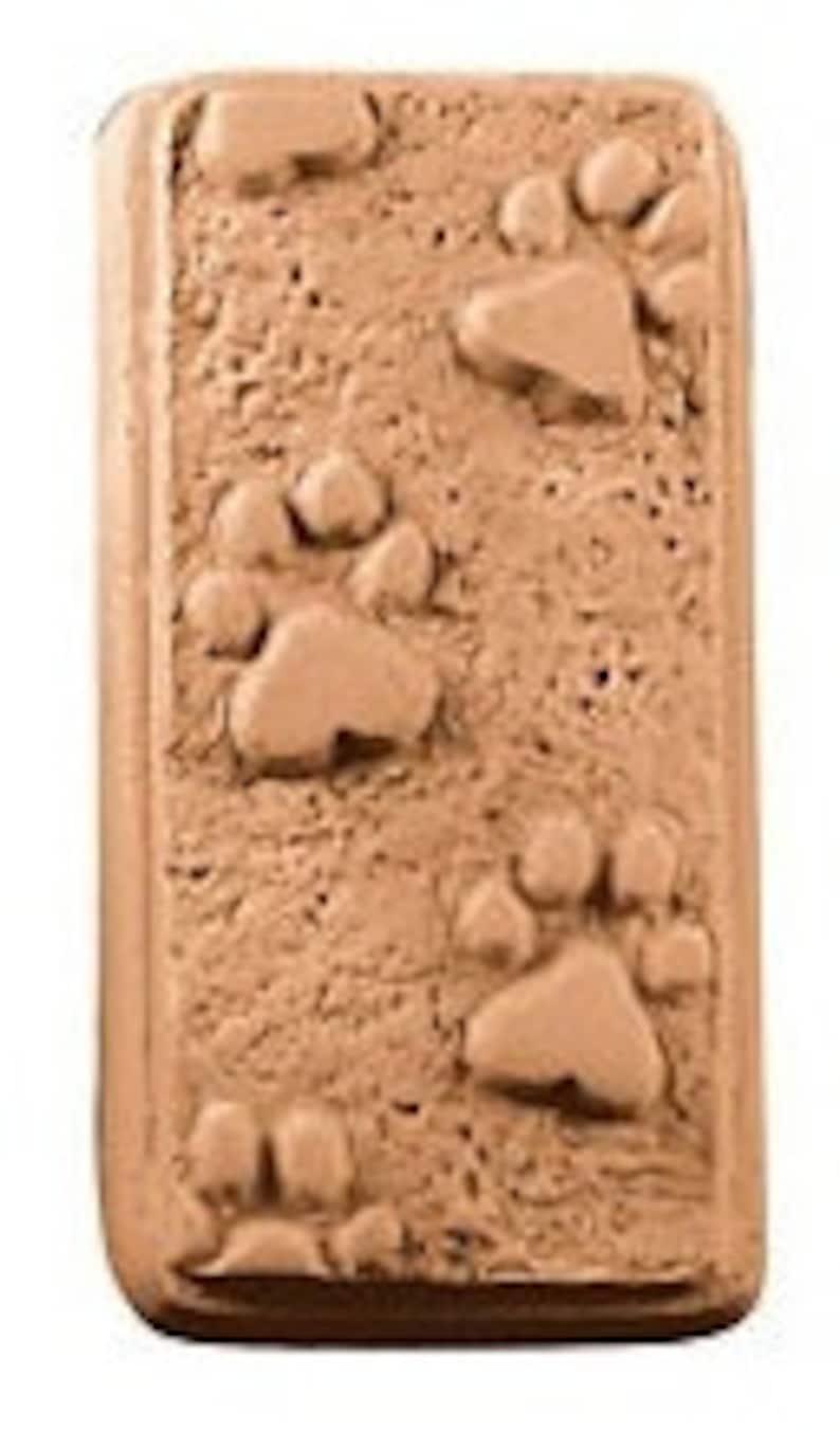 Paw Print Soap Bar Novelty Shaped Bath Soap Large 5.75 oz image 0