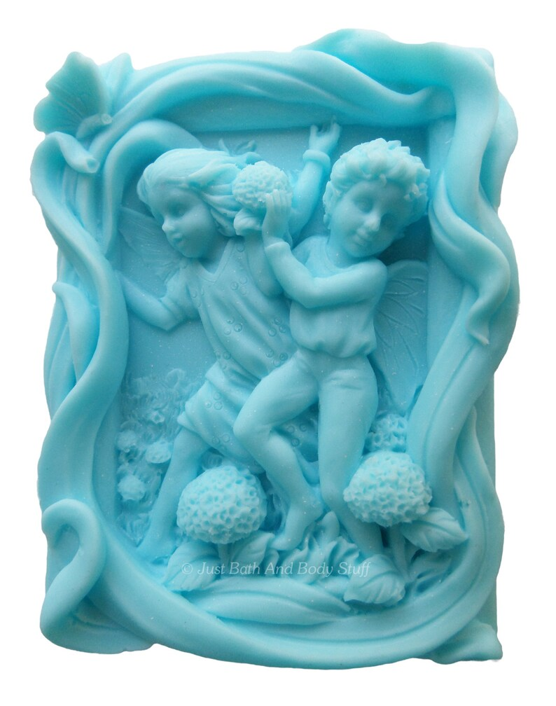 Fairy Soap Fairies Playing in the Flowers Novelty Shaped image 0