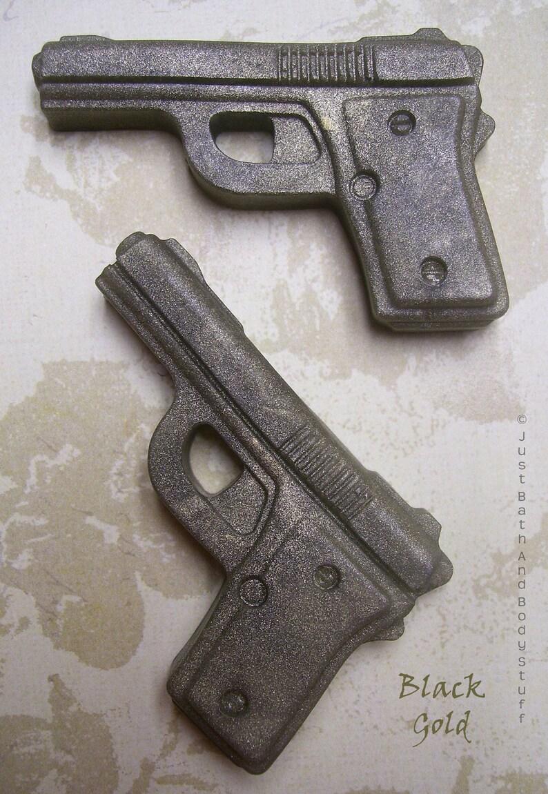 Gun Soap Set 2 Novelty Pistol Shaped Soap Guest Party Favor image 0