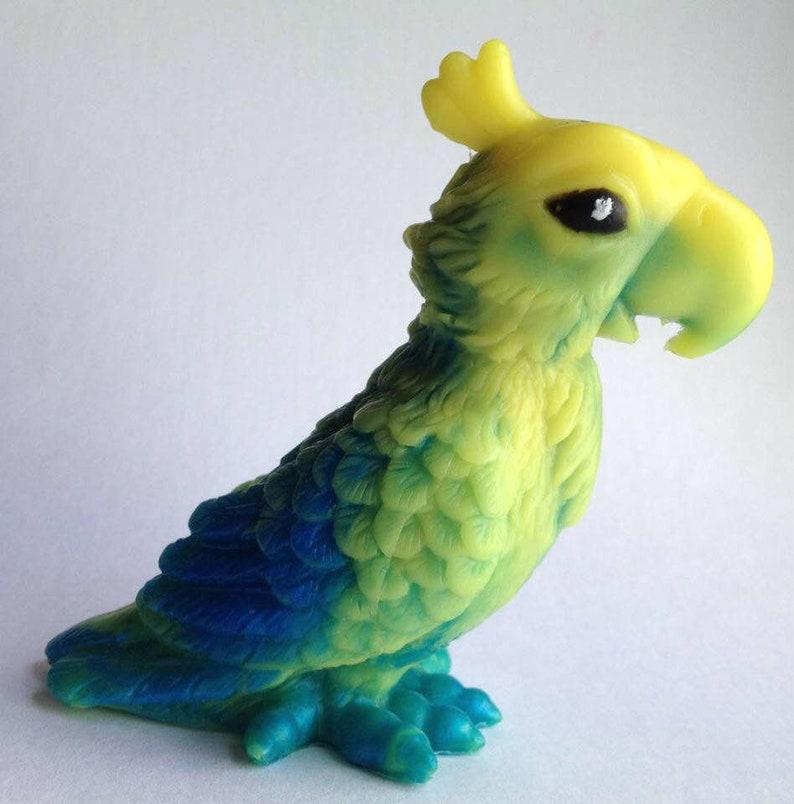 Parrot Soap 3D Bar Novelty Bird Shaped Soap Custom Color & image 0