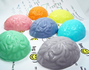 Brain Handcrafted Glycerin Smart Soap Bar Style 1 Funny Joke Gag Gift Cool Weird , U Pick Scent and Color