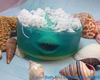 Shark Soap, Fish Soap, Shark Squirt Toy, Kids Soap, Bath Soap, Novelty Soap, You pick scent