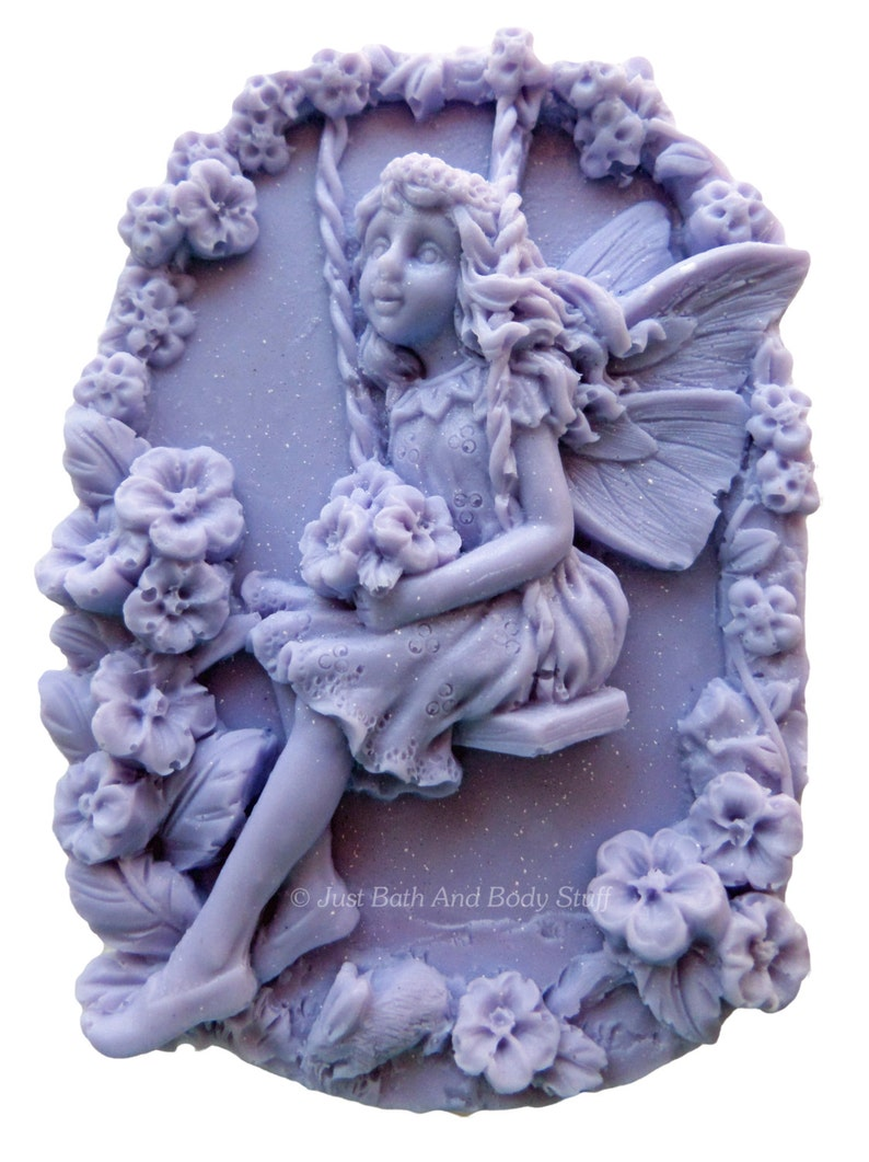Fairy Soap Novelty Fairy Swing and Flowers Shaped Soap image 0