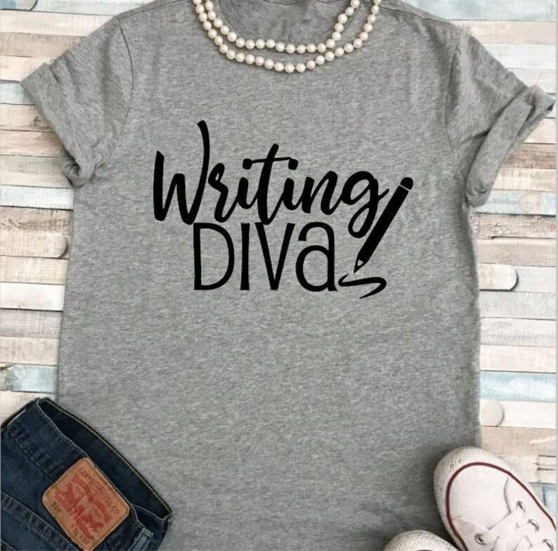 SALE Writing Diva/Teacher Shirt/Plus Sizes image 0