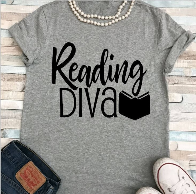 SALE Reading Diva/Teacher Shirt/ Reading Teacher/ Plus sizes image 0