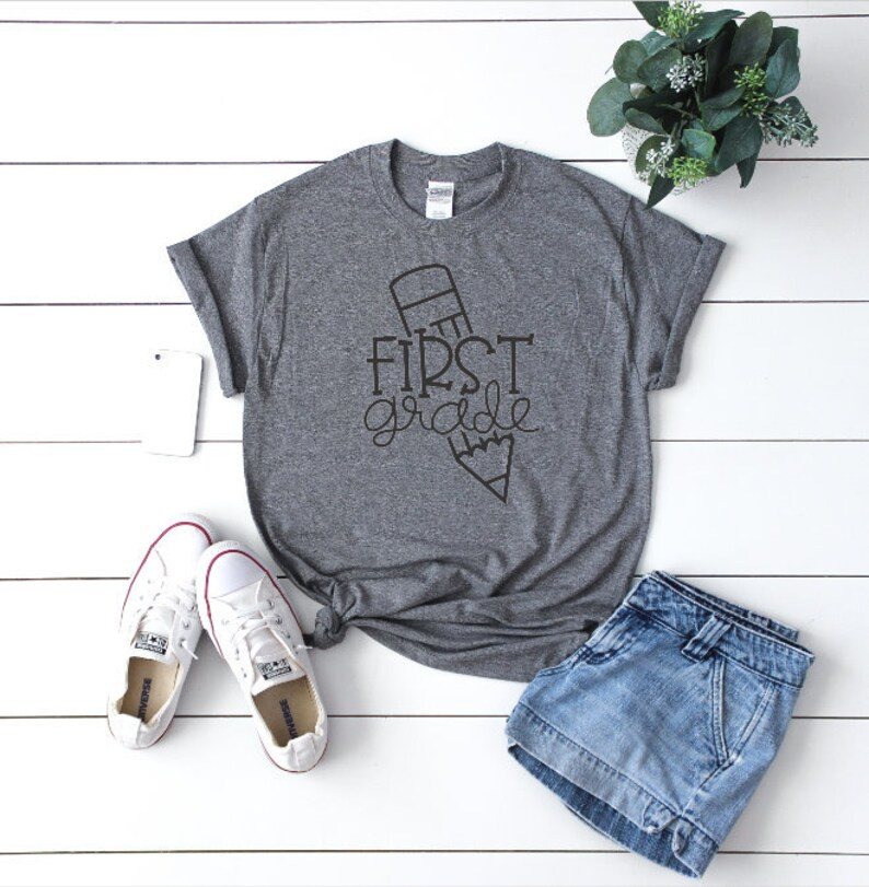 First Grade Teacher Shirt Youth to Plus Size image 0