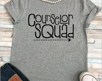 School Counselor Camp Counselor Squad Teacher Shirt Plus Sizes