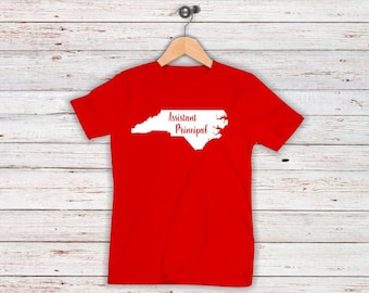 Red For Ed Assistant Principal Shirts Teacher Advocacy Day NC  Plus Sizes to 5XL