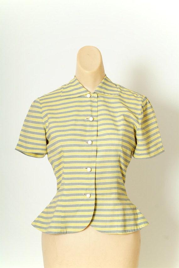 Vintage 40s Shirt Dress / Vintage Womens / Cotton… - image 2