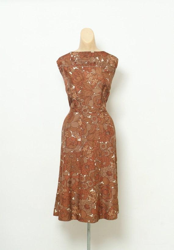 Vintage 50s Dress / 40s Dress  / 1950s Dress  /roc