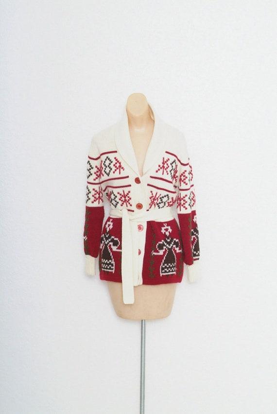 Vintage Belted Cardigan Vintage 70s Cardigan Wrap