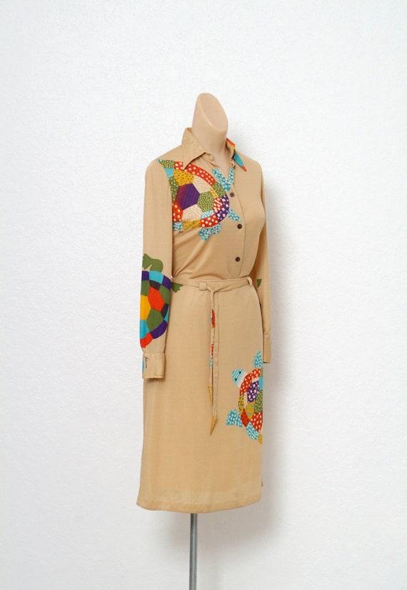 Vintage 70s dress / Novelty Print / Vintage two p… - image 5