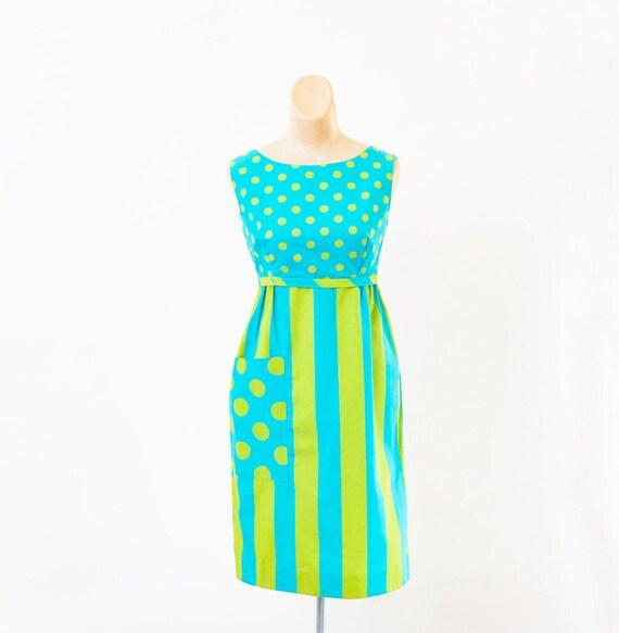 Vintage 1960s dress - Vintage pop art dress - Brig