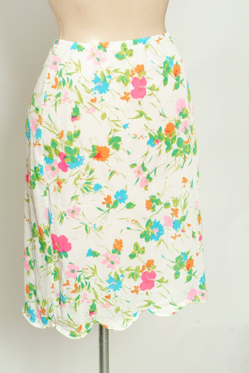 Vintage 60s Slip   Mod  1960s  gift for her  Warners slip  1960/'s Half Slip  bright floral  Vintage nylon  pinup  burlesque  1960s
