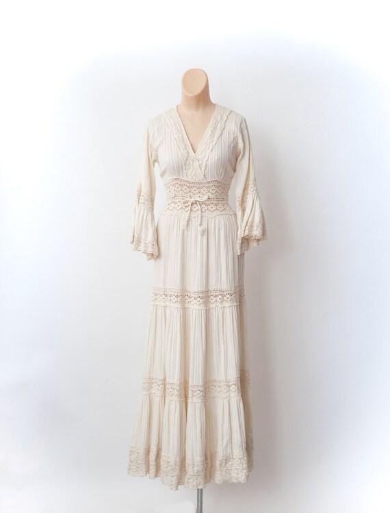 Boho wedding dress, Vintage wedding dress, Wedding