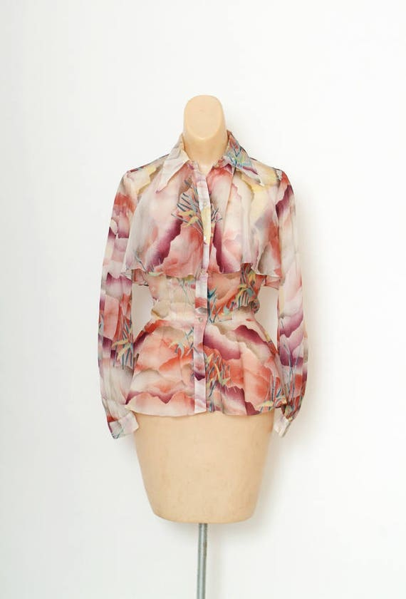 Vintage 1970s blouse / 70s blouse / Vintage blouse