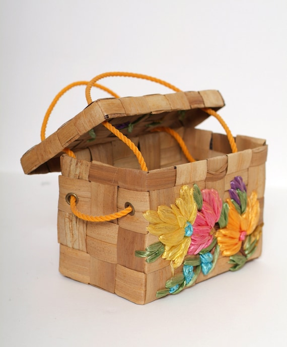 Vintage 50s 60s Purse /Flower Purse Handbag Bag /W