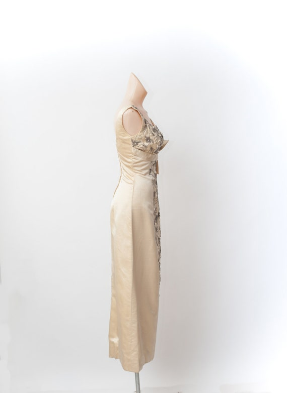 Vintage 50s gown, Beaded gown, Maxi evening dress… - image 3