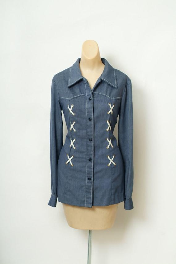 Vintage 60s  Shirt / Top / Vintage shirt / Vintag… - image 2