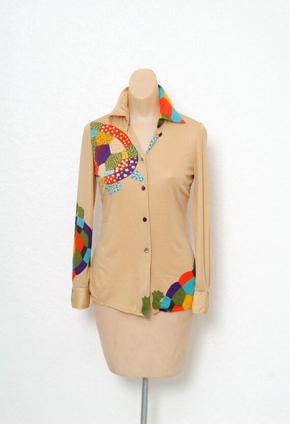 Vintage 70s dress / Novelty Print / Vintage two p… - image 9