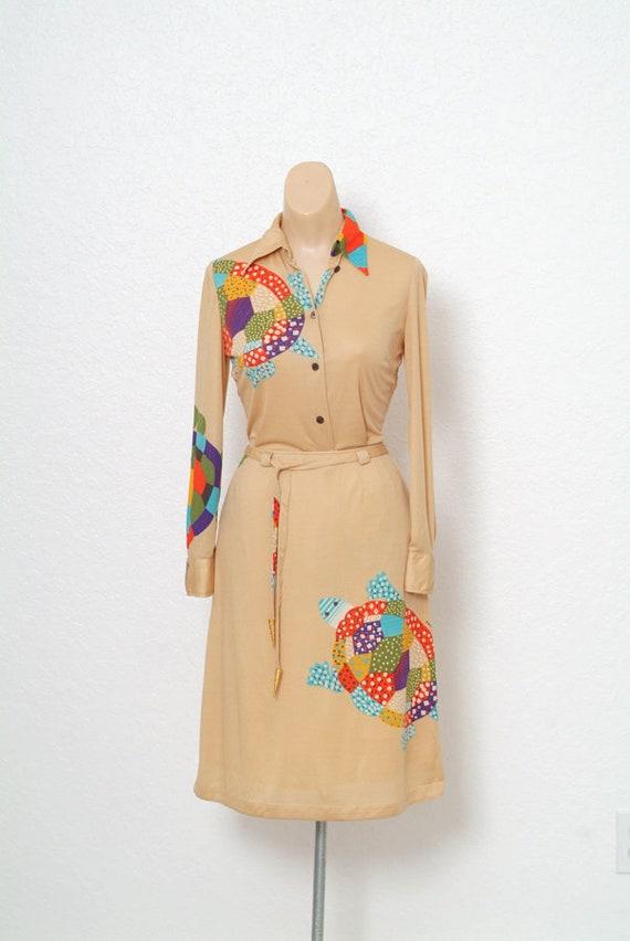 Vintage 70s dress / Novelty Print / Vintage two p… - image 2