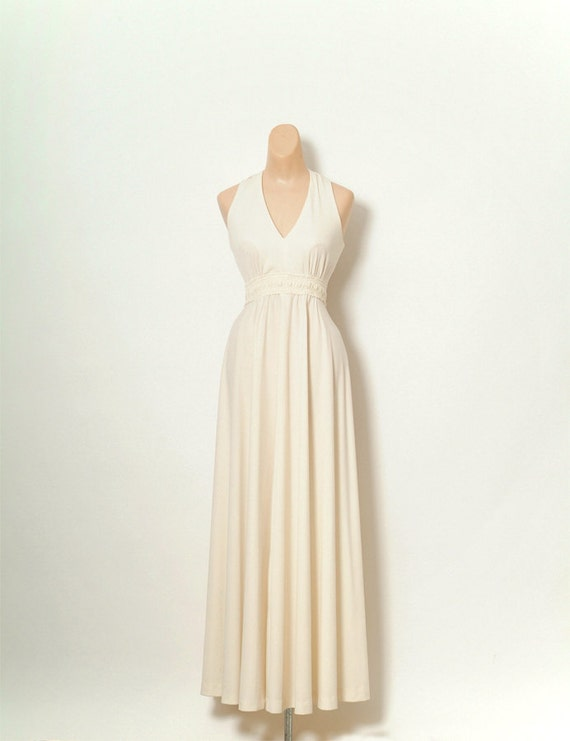 Vintage 70s dress / 70s wedding / 70s Maxi Dress