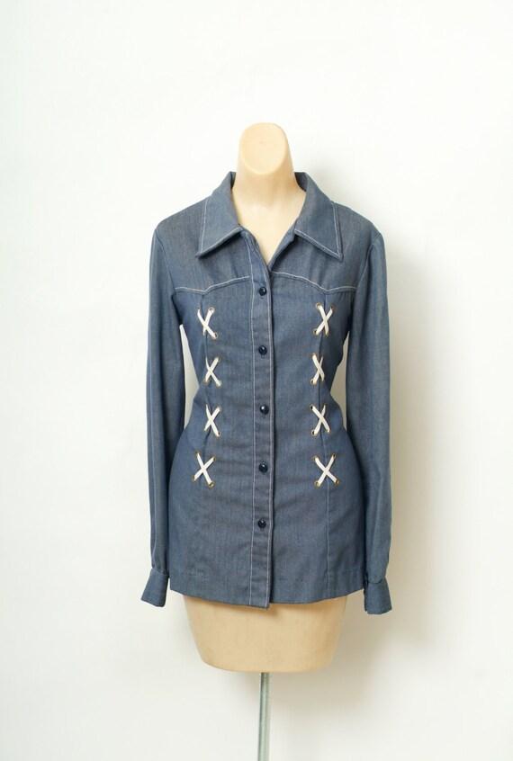 Vintage 60s  Shirt / Top / Vintage shirt / Vintag… - image 1