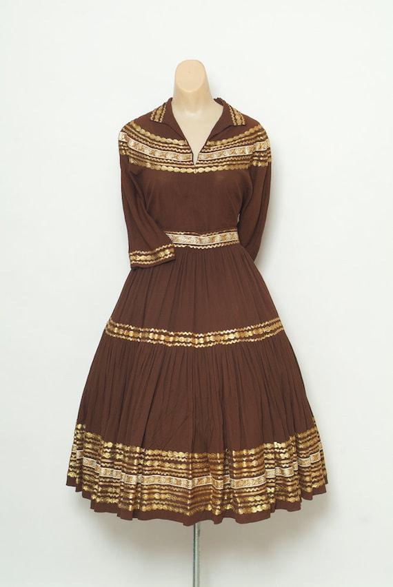 Vintage 50s Dress - 1950'sTwo Piece - Vintages Pat