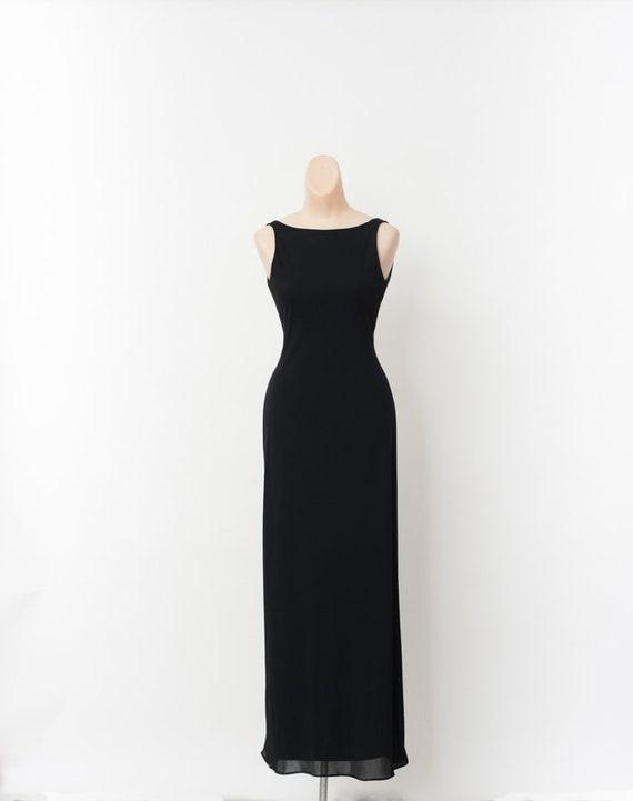 80's Party Dress Black / black 80s dress / Black C