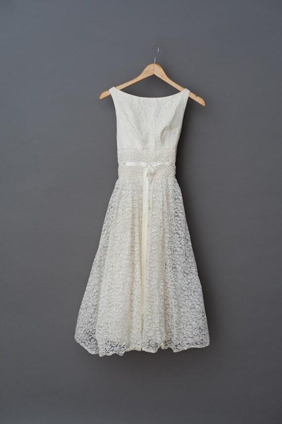 1950s lace dress - 50s Vintage dress -  Vintage 50
