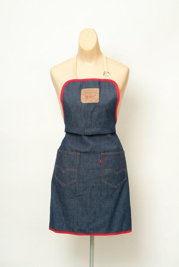 1970's Levi's  denim apron / Vintage apron / Vinta