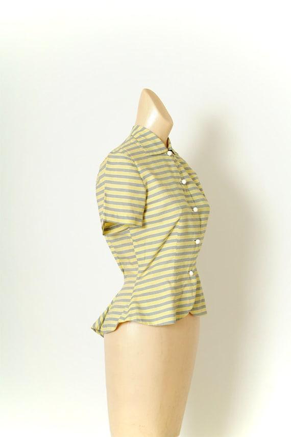 Vintage 40s Shirt Dress / Vintage Womens / Cotton… - image 3